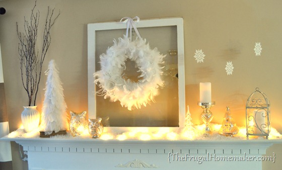 White Winter Mantel