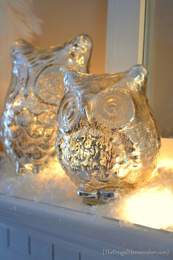 mercury glass owl