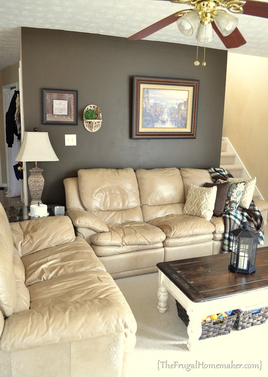 House tour living room - Tan furniture what color walls ...
