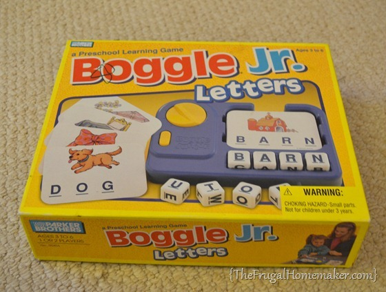 Boggle Jr - thrift store find