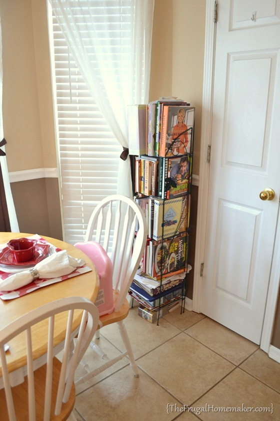 cookbook stand in kitchen