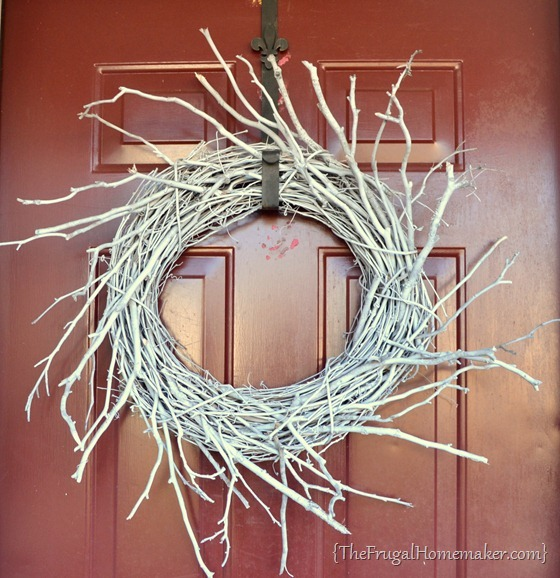 white stick wreath