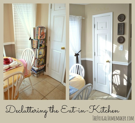 Small change in the eat-in-kitchen (Decluttering)