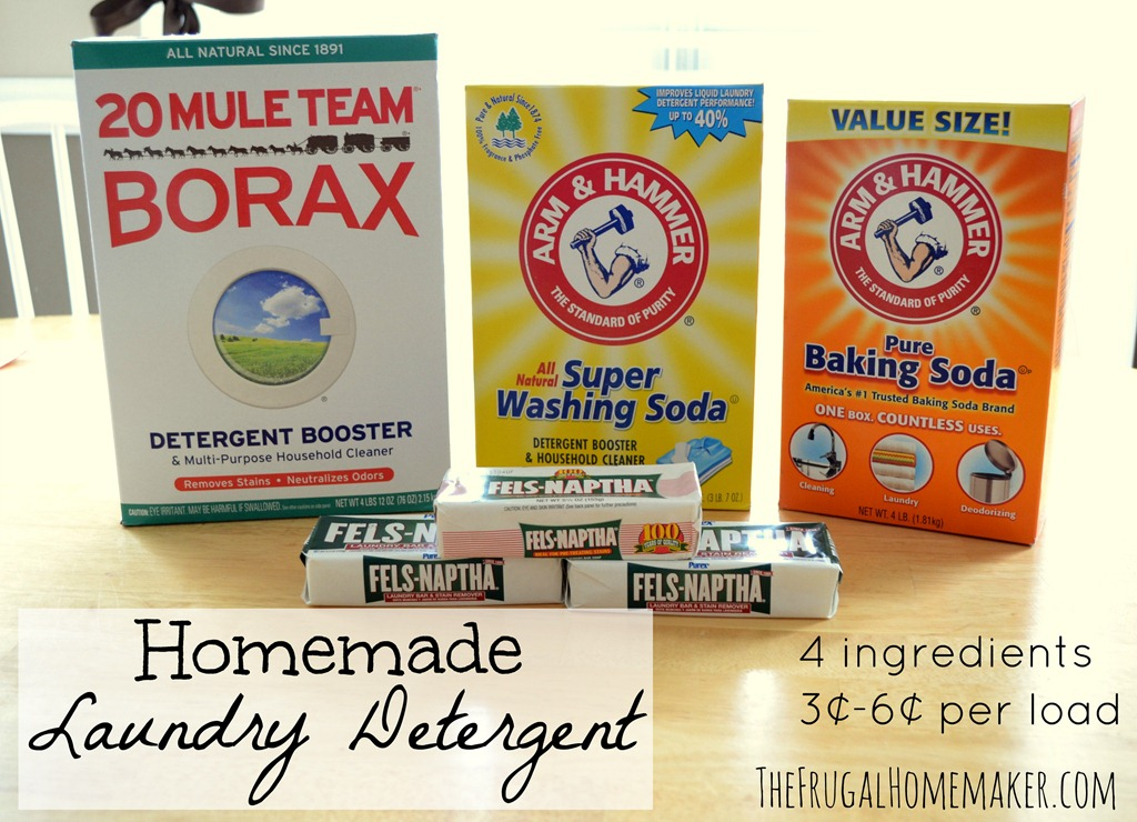Homemade Laundry Detergent – The Frugal