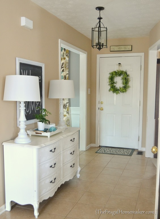 Bright Foyer Colors : House tour entryway