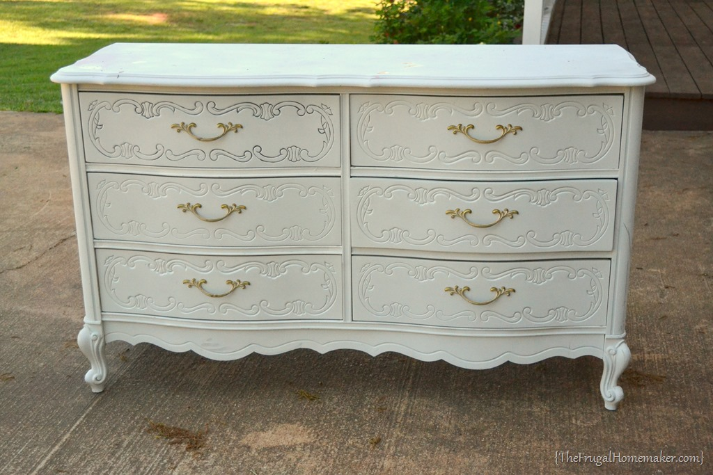Painted dresser makeover for Furniture yard sale near me