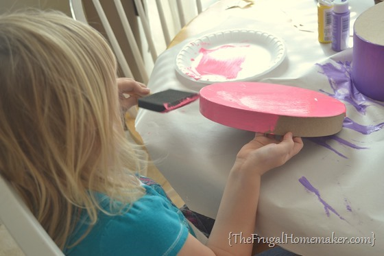 painting with Apple Barrel paints