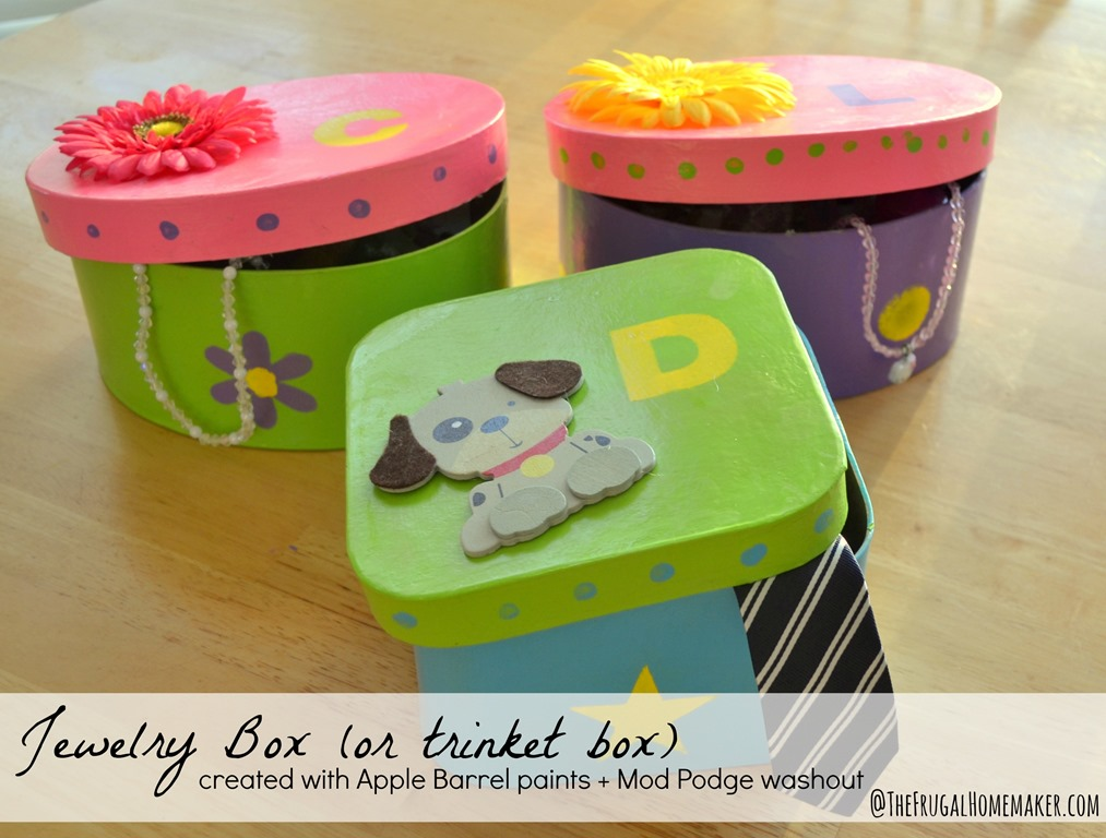 Jewelry box or trinket box Kids craft with Plaid crafts