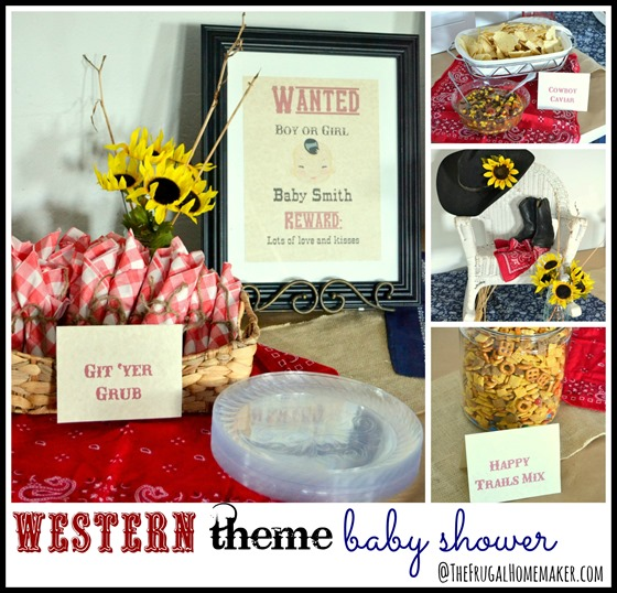 Western theme baby shower