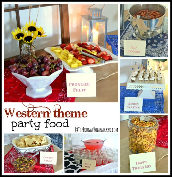 Western theme party food