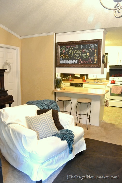 DIY chalkboard in living room