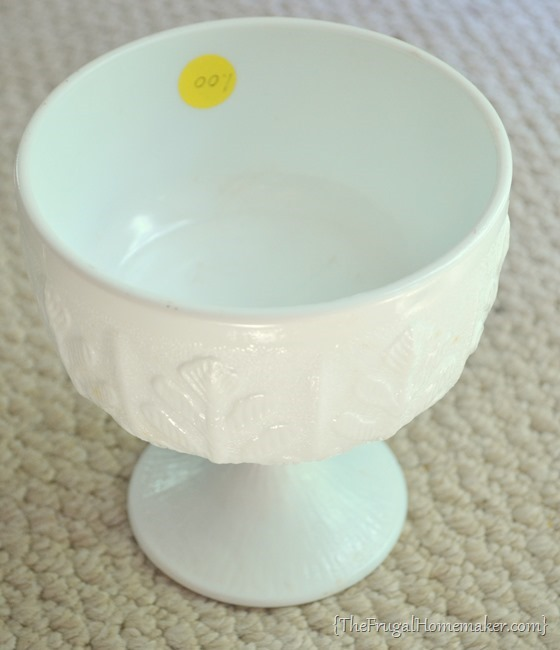yard sale milkglass