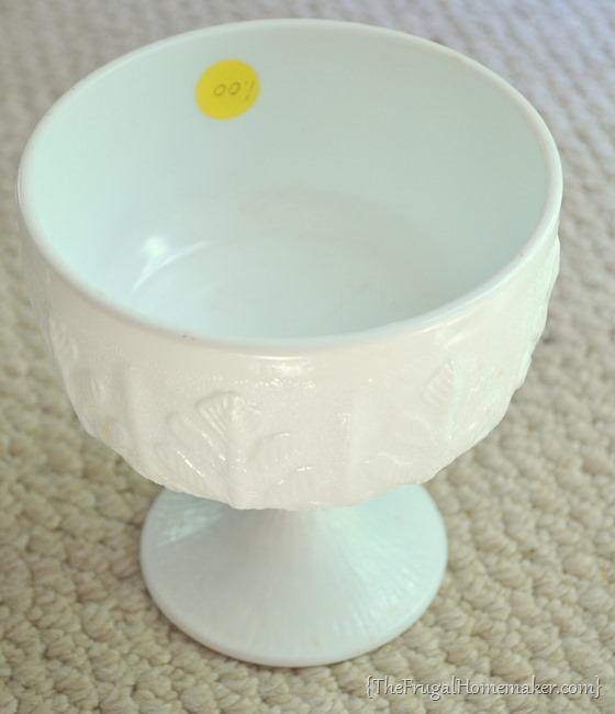 yard sale milkglass