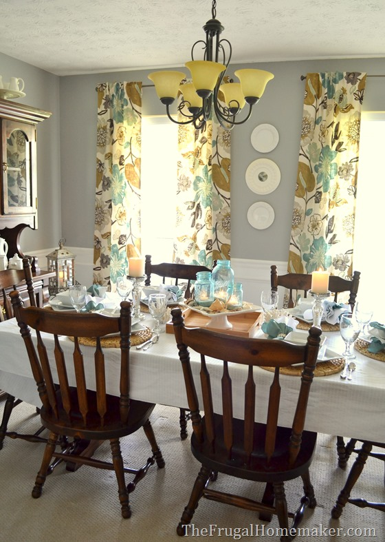 Setting a beautiful table with Better Homes and Gardens porcelain dishes & Beach-inspired tablescape with Better Homes and Gardens new ...