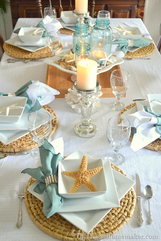 Beach inspired Tablescape With Better Homes And Gardens