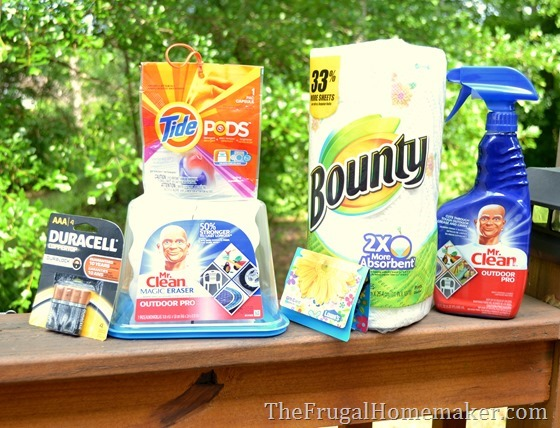 Lowe's gift card and P&G cleaning kit