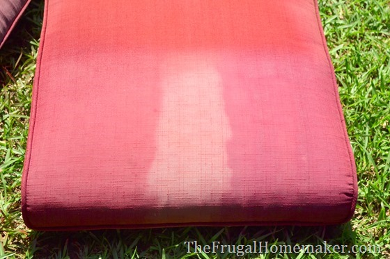 Faded chair cushions