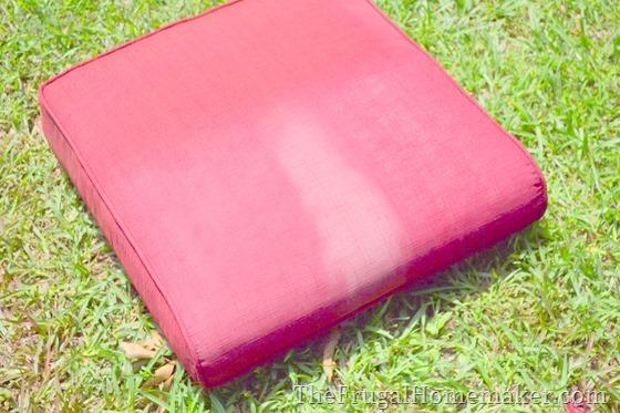 Faded chair cushions