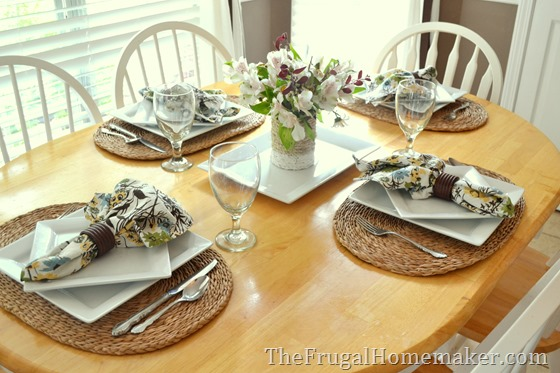 How to set a pretty table with yard sale finds (tablescape for ...