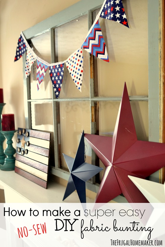 How to make a DIY no-sew fabric bunting