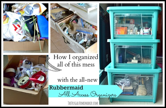 Organizing my craft supplies with Rubbermaid All Access Organizers
