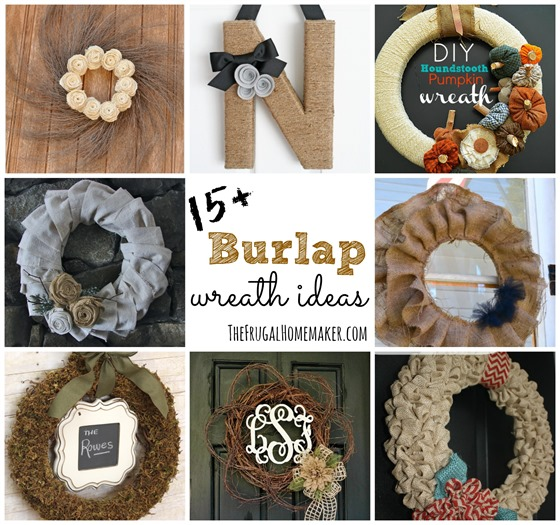 15+ DIY Burlap Wreath ideas