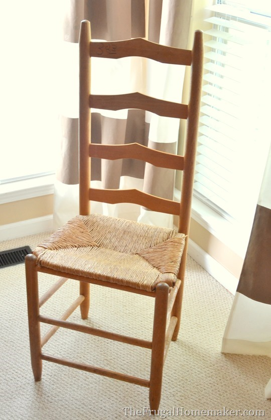 ladder back chair from Value Village