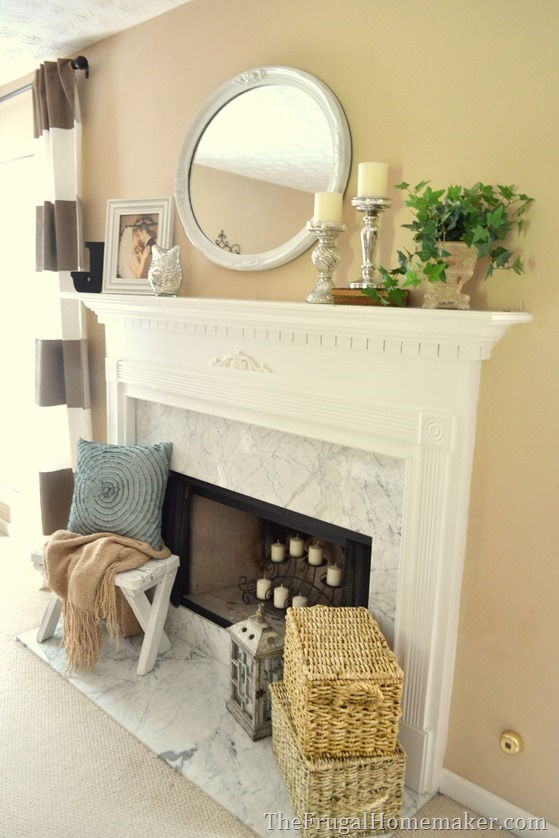 Traditional Mantel With A Touch Of Glam 1 Mantel