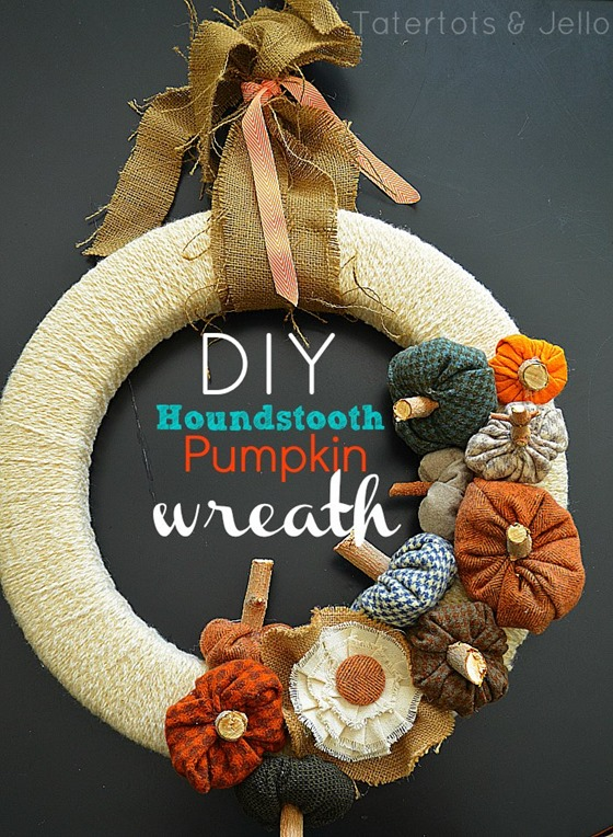 Houndstooth-Pumpkin-Wreath