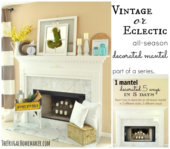 How To Decorate A Mantel cottage or coastal themed decorated mantel (1 mantel decorated 5