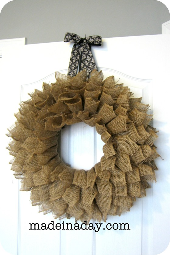 Burlap Wreath Tutorial Brown Sugar Toast: making wreaths