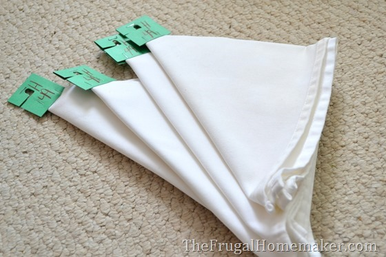 white thrift store napkins