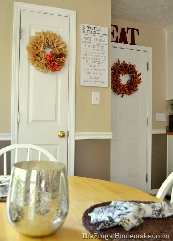 Some new kitchen art + a little bit of fall decorating