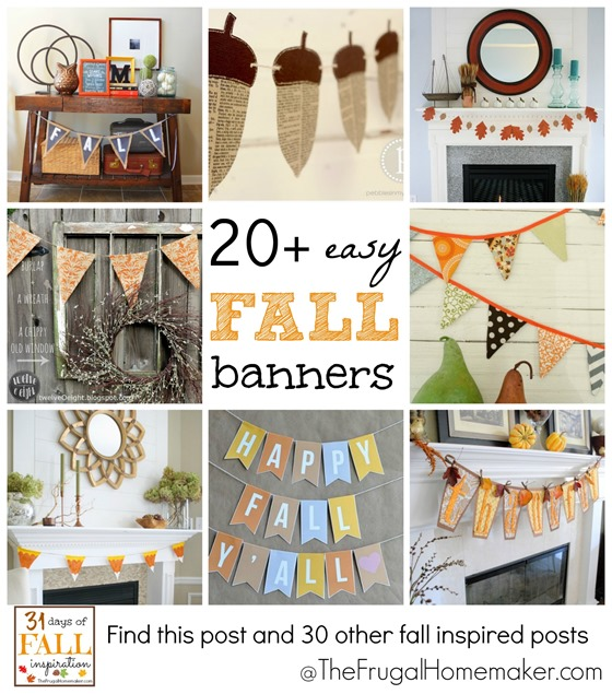 20  easy Fall banners