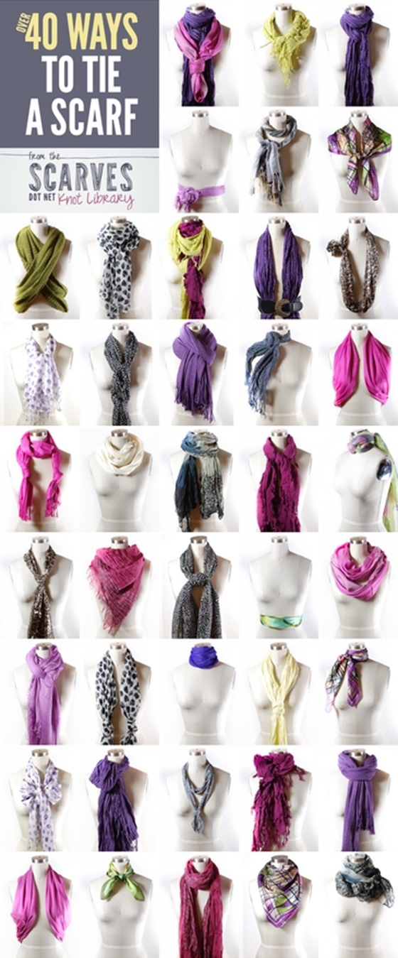 40 ways to tie scarves