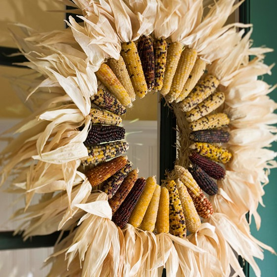 Corn and Husks wreath