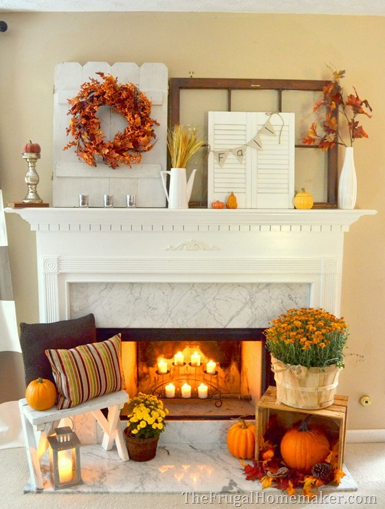 31 Days of Fall Inspiration - Fall mantel