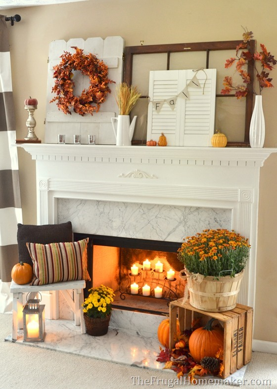 31 days of fall inspiration fall mantel How to decorate your house for thanksgiving