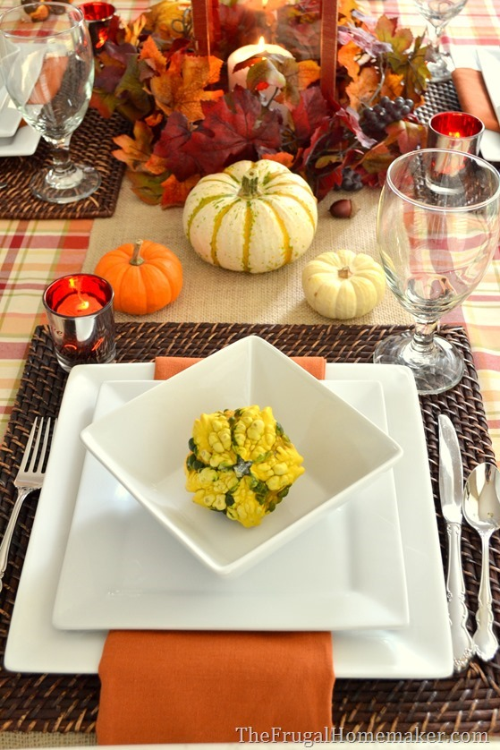 Fall Table with Better Homes and Gardens dishes
