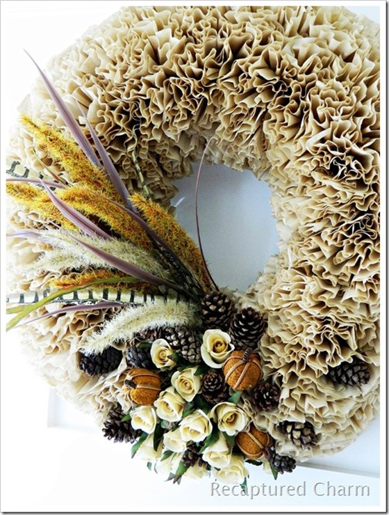Fall Coffee Filter Wreath