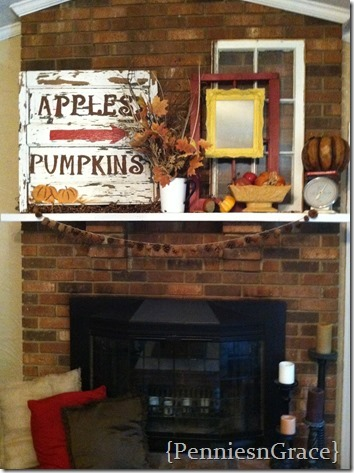 Molly's fall mantel