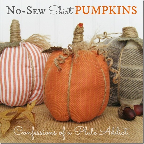 No-Sew Shirt Pumpkins