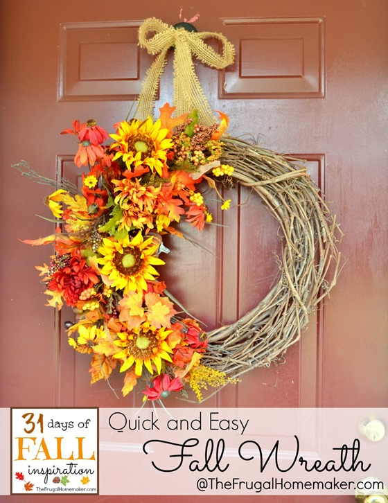 31 Days of Fall Inspiration: Quick and Easy Fall Wreath