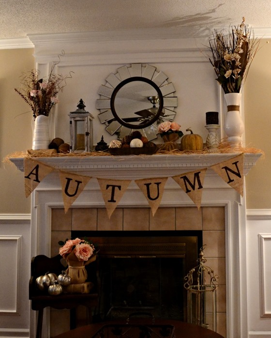 autumn bannerburlap