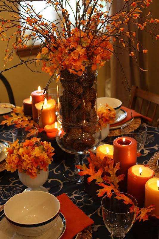 Hereu0027s How I Took A Centerpiece Idea Like These And Used It On My Living  Room U2013 A Leaf Garland Surrounding A Red Lantern On My Coffee Table.