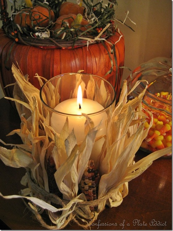 corn wrapped candle
