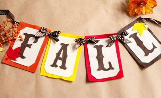 felt fall banner