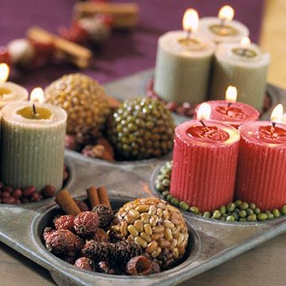muffin tin candle collection