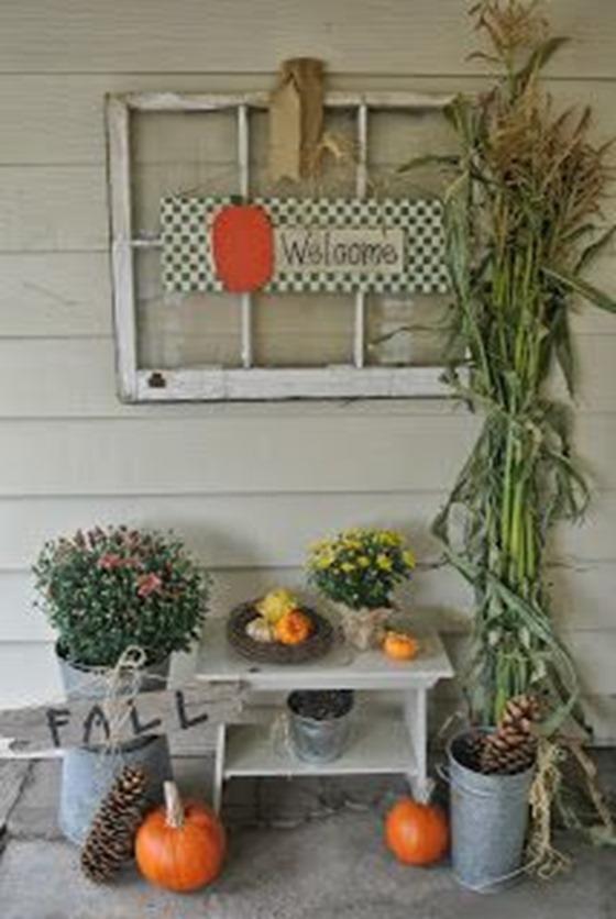 pinecones on porch