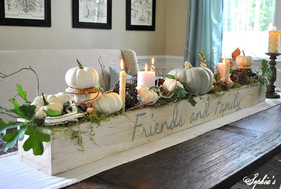side of fall centerpiece